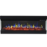Spectrum 72 Inch Modern Linear Electric 3 Sided Wall Mounted Built-in Recessed Fireplace