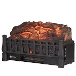 20 Inch Electric Fireplace Log Realistic Ember Bed Insert with Heater in Oak