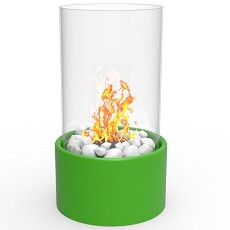 Eden Ventless Tabletop Portable Bio Ethanol Fireplace in Green