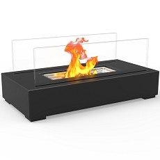 Utopia Ventless Tabletop Portable Bio Ethanol Fireplace in Black