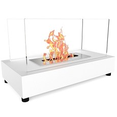 Avon Tabletop Portable Bio Ethanol Fireplace in White