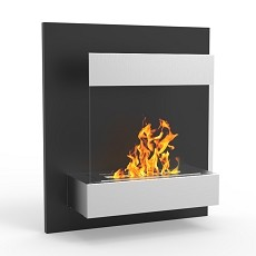 Boston 24 Inch Ventless Wall Mounted Bio Ethanol Fireplace