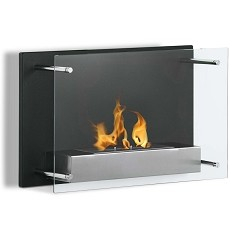 Milan 24 Inch Ventless Wall Mounted Bio Ethanol Fireplace