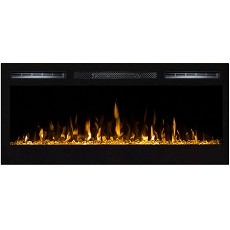 Lexington 35 Inch Built-in Ventless Heater Recessed Wall Mounted Electric Fireplace - Crystal