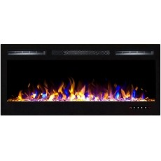 Lexington 35 Inch Built-in Ventless Recessed Wall Mounted Electric Fireplace - Multi-Color
