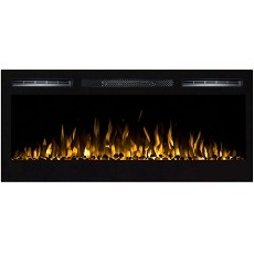 Lexington 35 Inch Built-in Ventless Heater Recessed Wall Mounted Electric Fireplace - Pebble