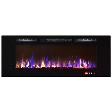 Astoria 60 Inch Built-in Ventless Heater Recessed Wall Mounted Electric Fireplace - Multi-Color