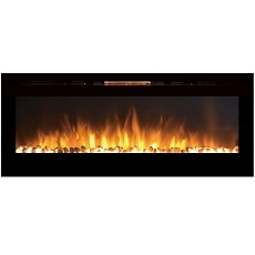 Astoria 60 Inch Built-in Ventless Heater Recessed Wall Mounted Electric Fireplace - Pebble