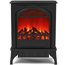 Phoenix Electric Fireplace Free Standing Portable Space Heater Stove