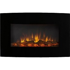 Broadway 35 Inch Ventless Heater Electric Wall Mounted Fireplace - Log