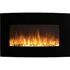 Broadway 35 Inch Ventless Heater Electric Wall Mounted Fireplace - Pebble
