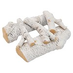 16 Inch 5 Piece Ceramic Fireplace Gas Logs - Birch