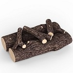 16 Inch 5 Piece Ceramic Fireplace Gas Logs - Oak